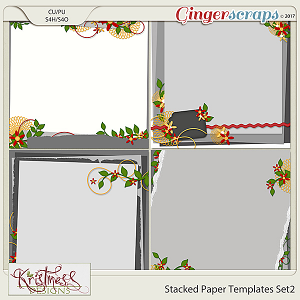 Stacked Paper Templates Set 2