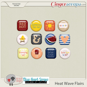 Heat Wave Flairs by Luv Ewe Designs and Blue Heart Scraps