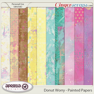 Donut Worry - Painted Papers