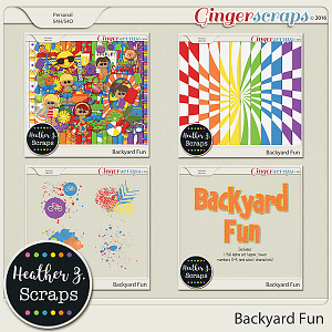 Backyard Fun BUNDLE by Heather Z Scraps