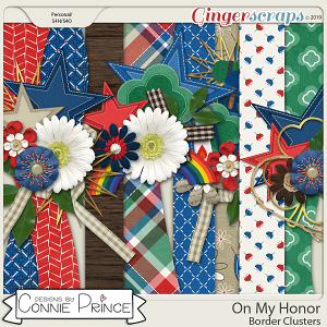 On My Honor - Border Clusters by Connie Prince