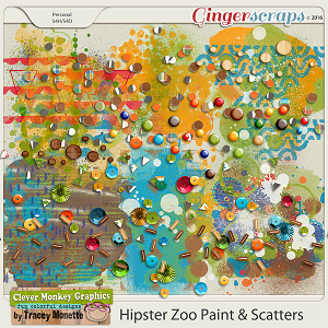 Hipster Zoo Paint & Scatters by Clever Monkey Graphics