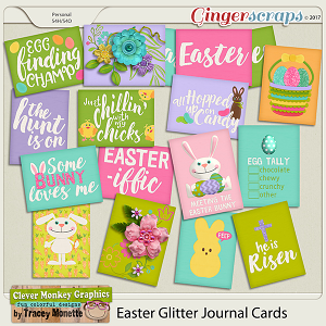 Easter Glitter Journal Cards by Clever Monkey Graphics