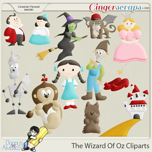 Doodles By Americo: The Wizard Of Oz Cliparts