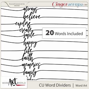 CU Word Dividers Word Art