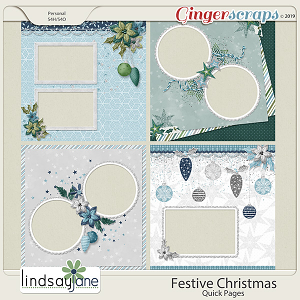 Festive Christmas Quick Pages by Lindsay Jane