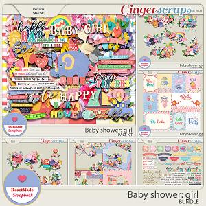 Baby shower: girl - bundle