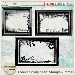 Forever in my heart Stamps&Frames