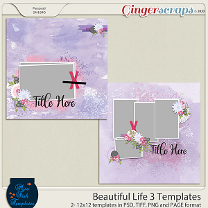 Beautiful Life 3 Templates by Miss Fish
