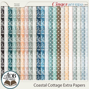 Coastal Cottage Pattern Papers by ADB Designs