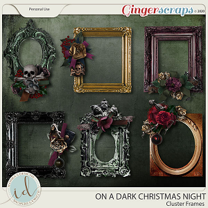 On A Dark Christmas Night Cluster Frames by Ilonka's Designs