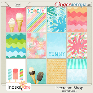 Icecream Shop Journal Cards by Lindsay Jane