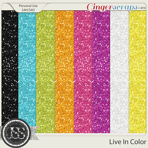 Live In Color Glitter Papers