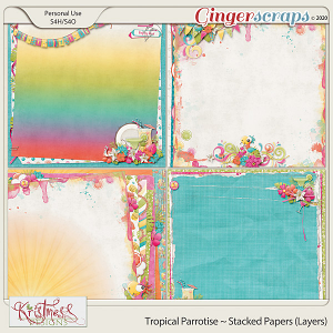 Tropical Parrotise Stacked Papers (Layers)