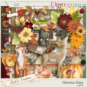 Glorious Days Page Kit by LouCee Creations