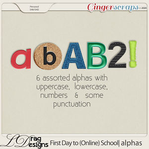 First Day To (Online) School: Alphas by LDragDesigns