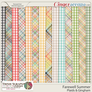 Farewell Summer Bonus Papers by Trixie Scraps Designs