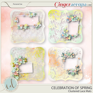 Celebration Of Spring Clustered Lace Mats by Ilonka's Designs