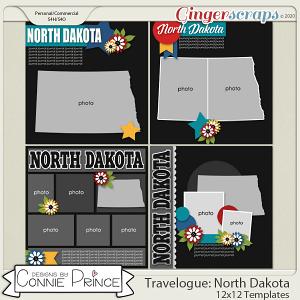 Travelogue North Dakota - 12x12 Temps (CU Ok) by Connie Prince