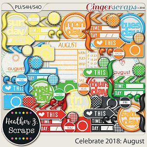 Celebrate 2018: August ACCENTS by Heather Z Scraps