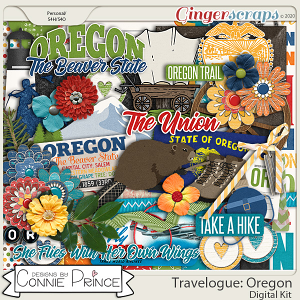 Travelogue Oregon - Kit by Connie Prince