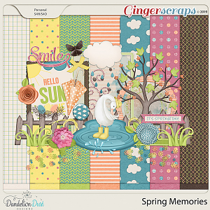 Spring Memories Digital Scrapbook Kit by Dandelion Dust Designs