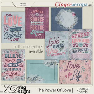 The Power Of Love: Journal Cards by LDragDesigns