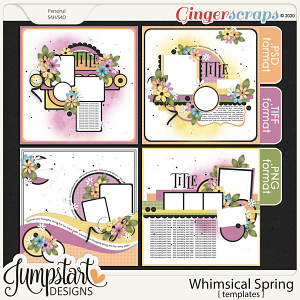 Whimsical Spring {Templates} by Jumpstart Designs