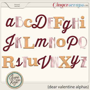 Dear Valentine Alphas by Chere Kaye Designs