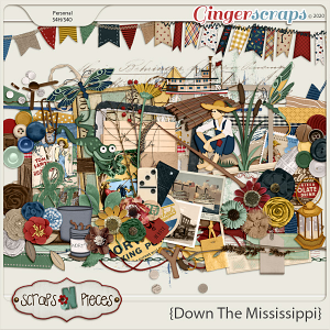 Down the Mississippi Embellishments by Scraps N Pieces