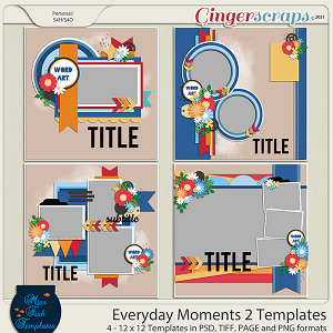 Everyday Moments 2 Templates by Miss Fish
