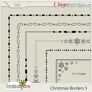 Christmas Borders 5 by Lindsay Jane