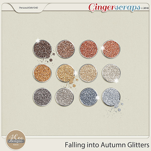 Falling into Autumn Glitters by JoCee Designs
