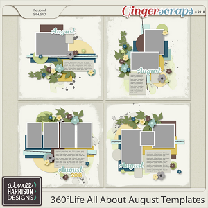 360°Life All About August Templates by Aimee Harrison