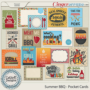 Summer BBQ - Pocket Cards