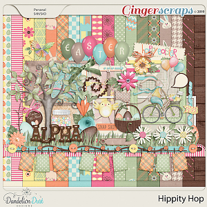 Hippity Hop Digital Scrapbook Kit by Dandelion Dust Designs