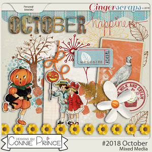 #2018 October - Mixed Media by Connie Prince
