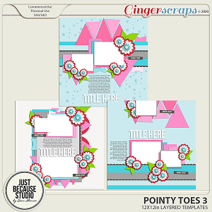 Pointy Toes 3 Templates by JB Studio