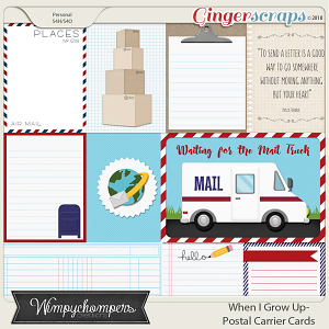 When I Grow Up- Postal Carrier- Cards