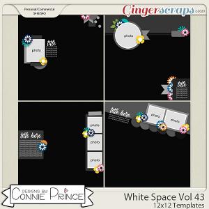 White Space Volume 43 - 12x12 Temps (CU Ok) by Connie Prince