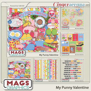 My Punny Valentine BUNDLE by MagsGraphics