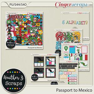 Passport to Mexico BUNDLE by Heather Z Scraps