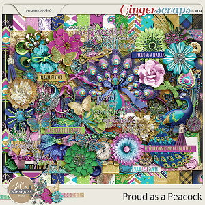 Proud As A Peacock Kit by JoCee Designs