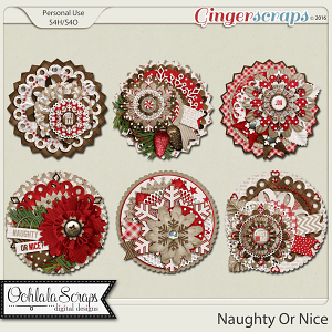 Naughty Or Nice Cluster Seals