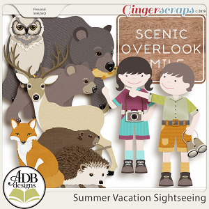 Summer Vacation Sightseeing Extras by ADB Designs