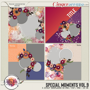 Special Moments- VOL.09 - Templates - by Neia Scraps