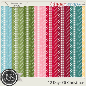 12 Days Of Christmas Pattern Papers