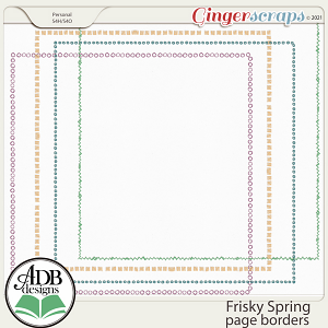 Frisky Spring Page Borders by ADB Designs