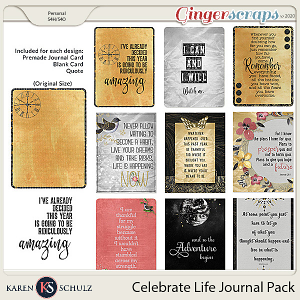 Celebrate Life Journal Pack by Karen Schulz