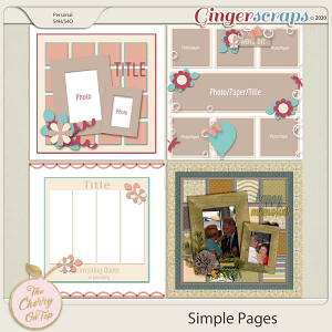 The Cherry On Top: Simple Pages Templates